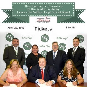The Chamber of Commerce of the Mastics & Shirley Honors The William Floyd School Board