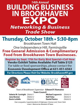 14th Annual Building Business in Brookhaven Expo @ Brookhaven Town Hall | Farmingville | New York | United States