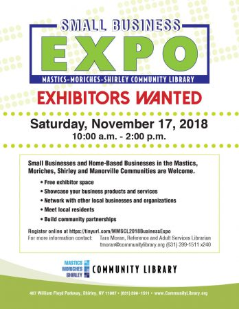 Small Business Expo 2018 @ Mastics-Moriches-Shirley Community Library | Shirley | New York | United States