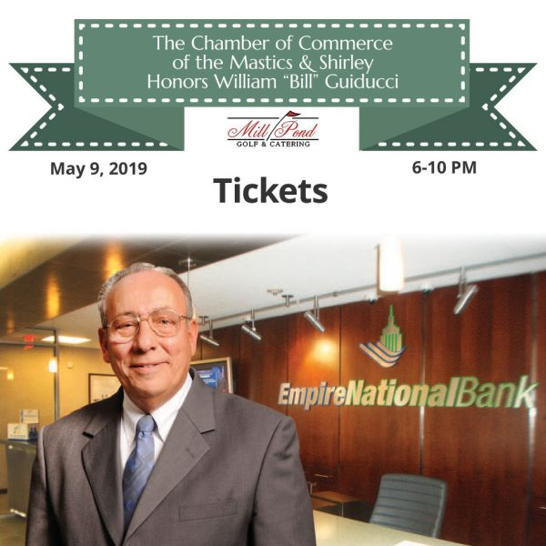 """The Chamber of Commerce of the Mastics & Shirley Honors William """"Bill"""" Guiducci"""