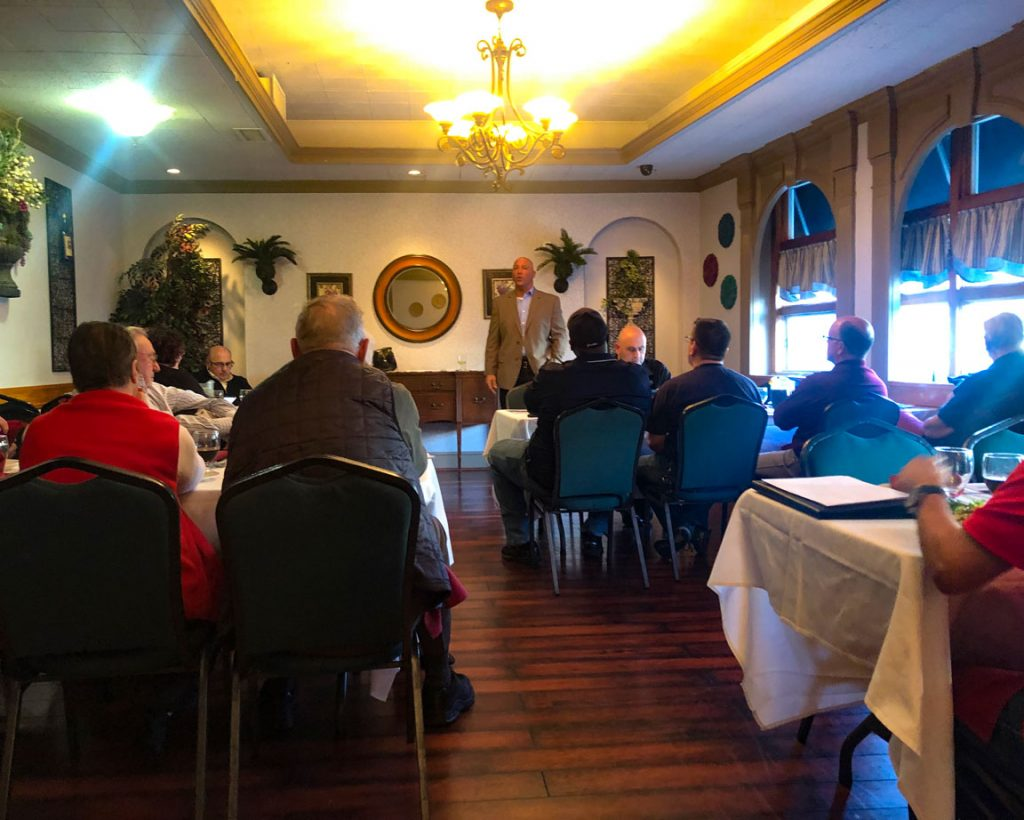 Jim Tullo speaking Mastic-Shirley Chamber meeting