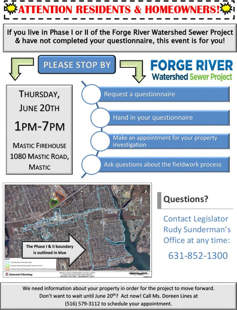 Forge River Watershed Sewer Project Phase I & II Info Event