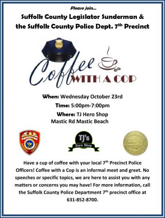 Coffee with a Cop @ TJ's Hero Shop | Mastic Beach | New York | United States
