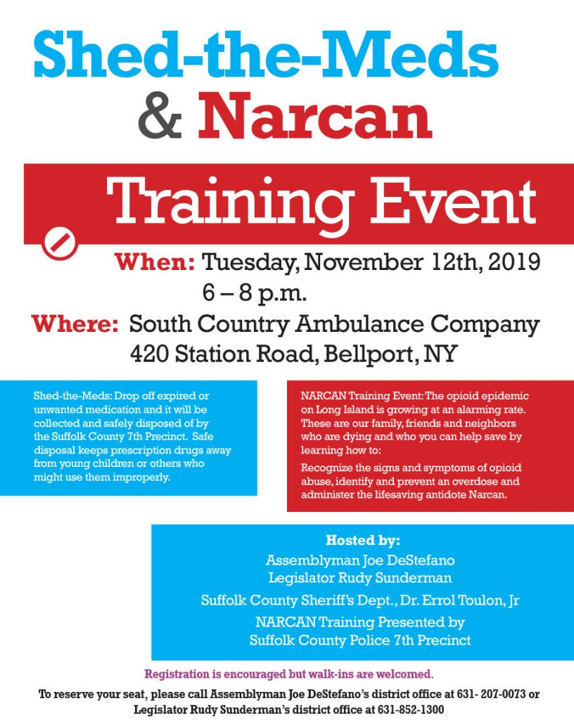 Shed-the-Meds & Narcan Training Event