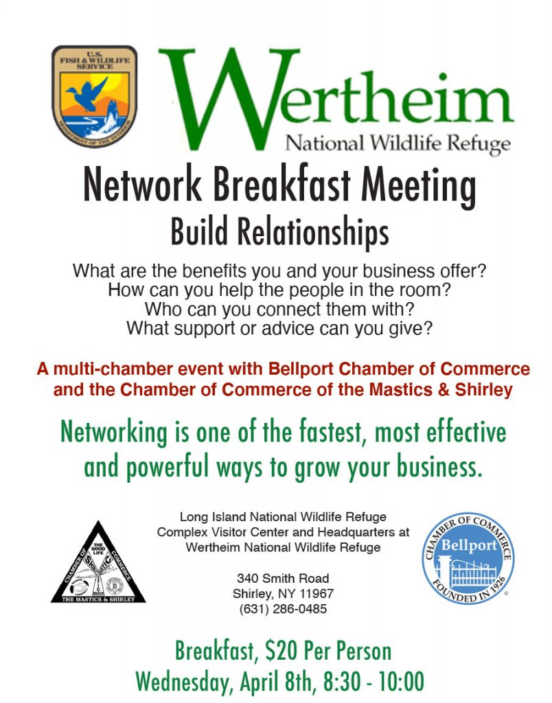 Network Breakfast Meeting at Wertheim National Wildlife Refuge